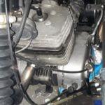 Kijk op het motorblok van MZ TS