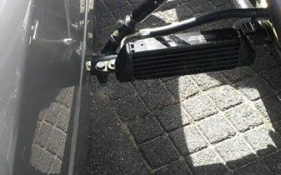 Radiator module op zijspan frame bmw motorfiets